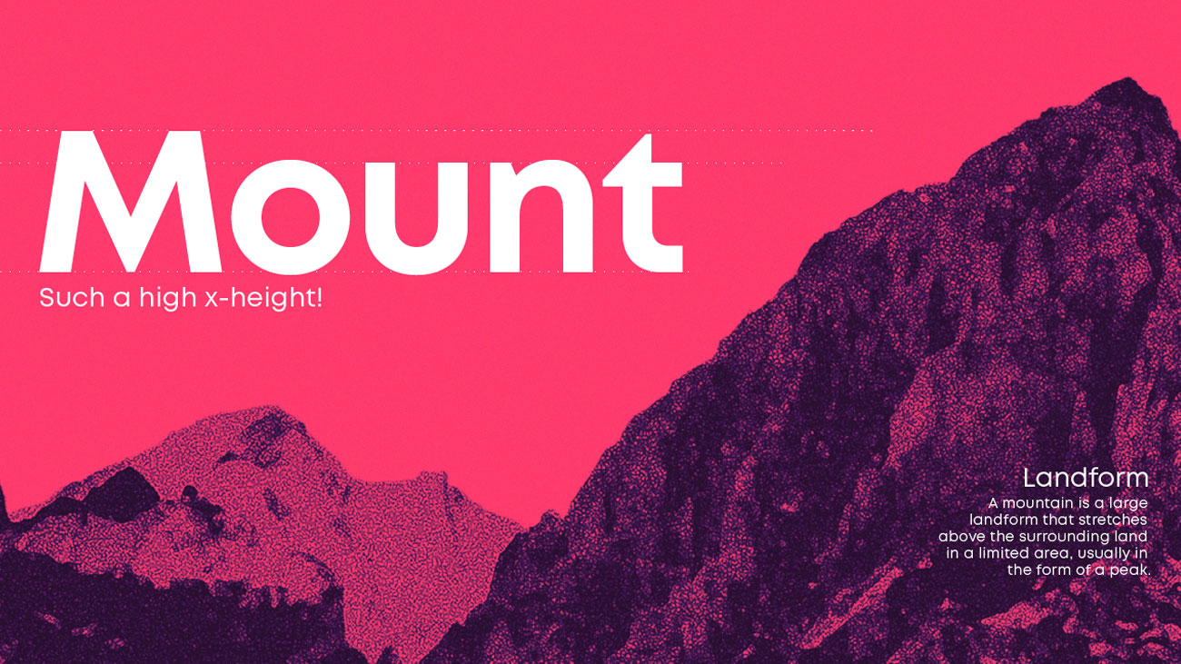 JFM Marketing + Design - Graphic Design Trend | Mount Font