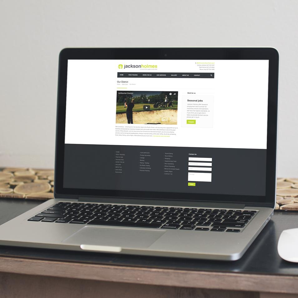JFM Marketing + Design | JacksonHolmes Case Study - Website