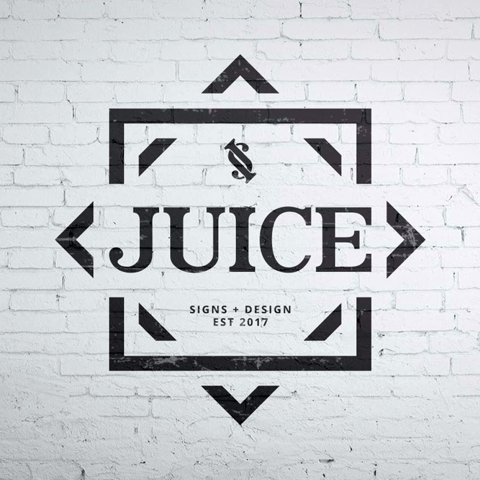 JFM Marketing + Design | Brand Identity/Logo Design Juice Signs & Design