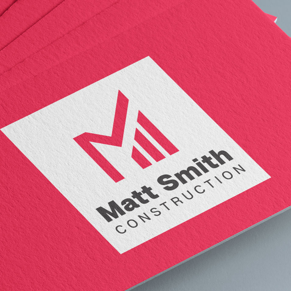 JFM Marketing + Design | Brand Identity/Logo Design Matt Smith Contracting