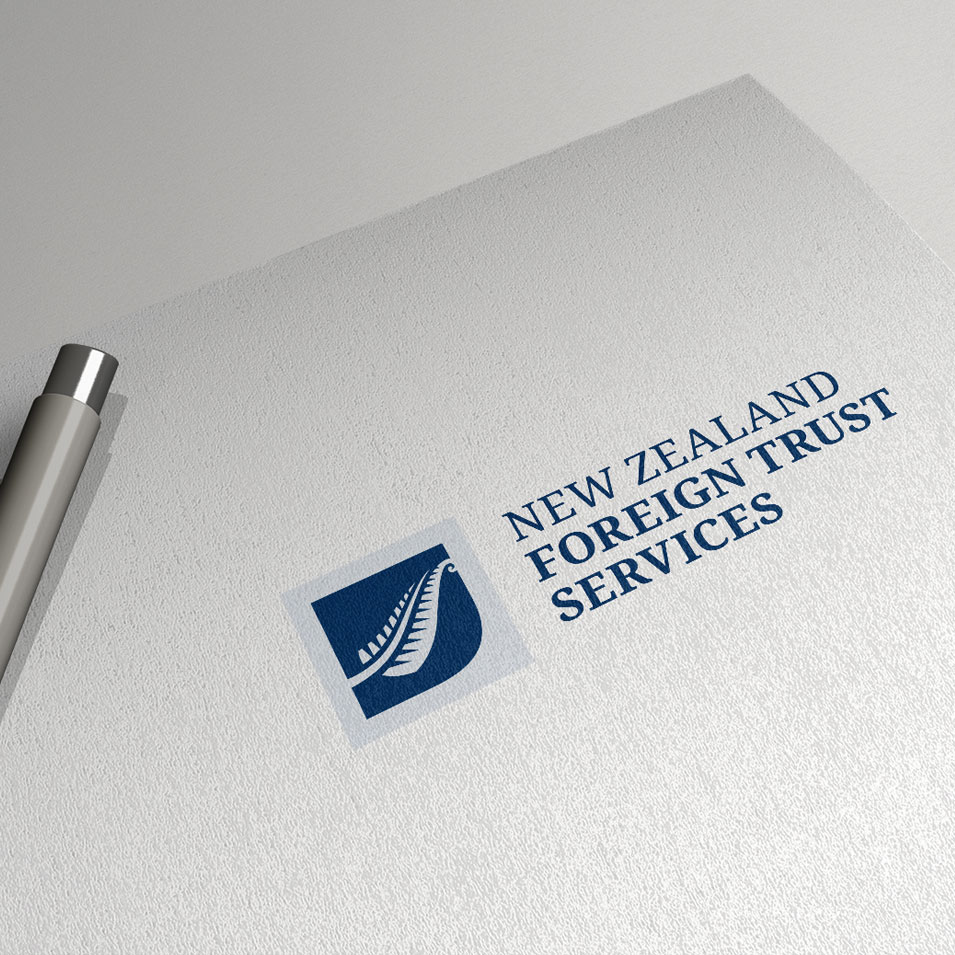 JFM Marketing + Design | Brand Identity/Logo Design New Zealand Foreign Trust Services NZFTS
