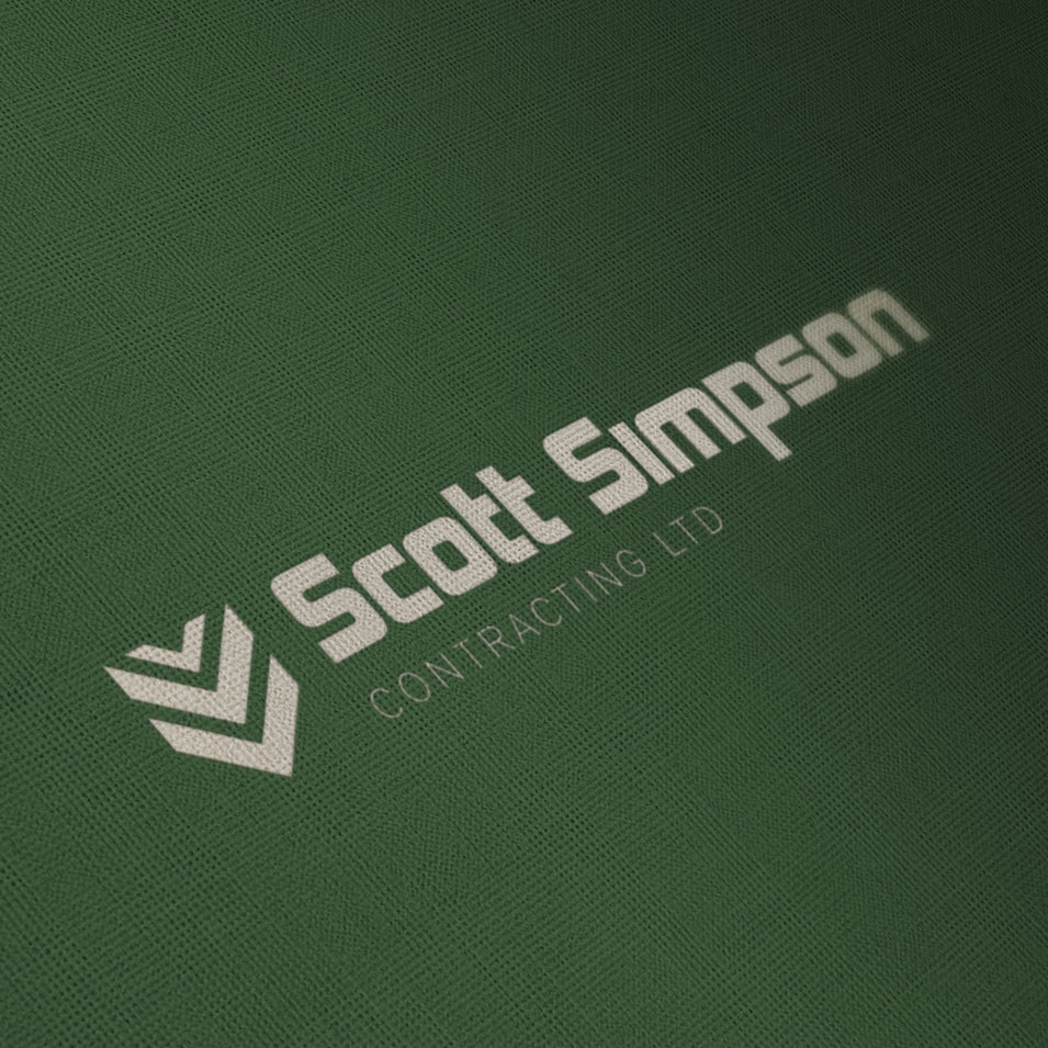 JFM Marketing + Design | Brand Identity/Logo Design Scott Simpson Contracting