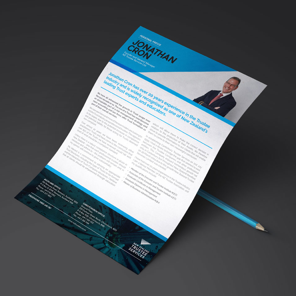JFM Marketing + Design | Brochures Flyers - NZTS