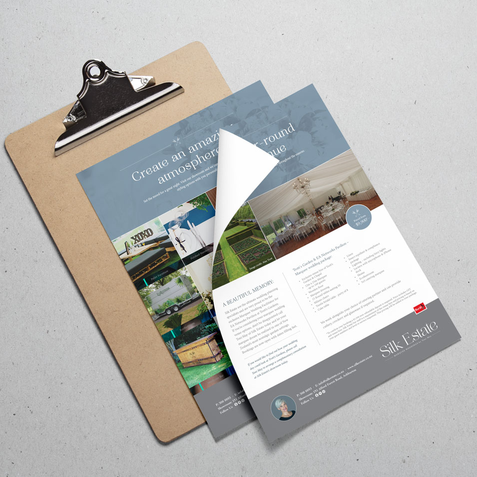 JFM Marketing + Design | Brochures Flyers - Silk Estate