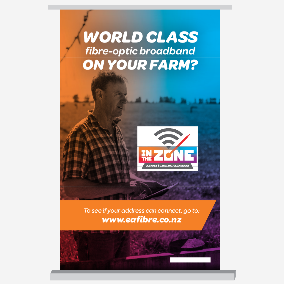 JFM Marketing + Design | EA Fibre Pull Up Banner Signage