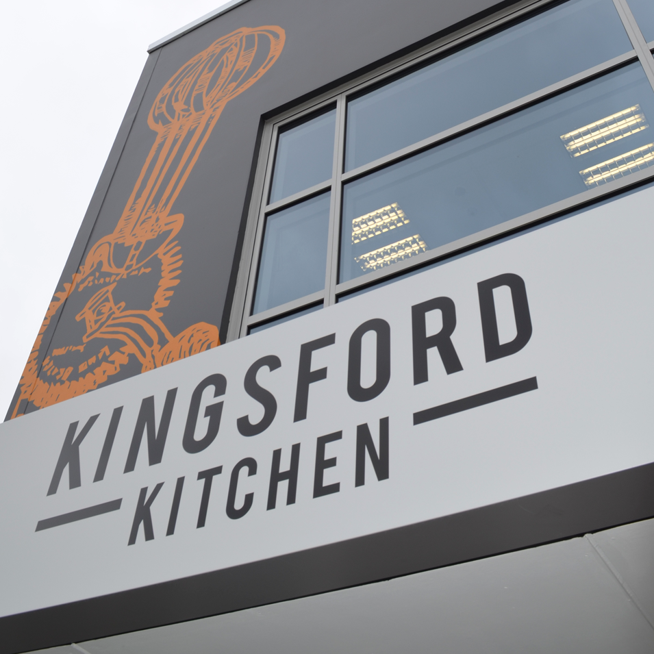 JFM Marketing + Design | Kingsford Kitchen Building Signage