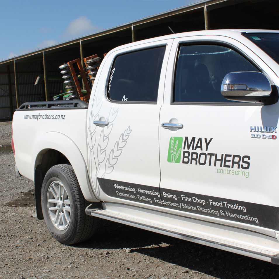 JFM Marketing + Design | Signage - May Brothers Contracting Vehicle Signage