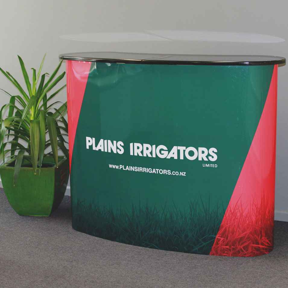 JFM Marketing + Design | Signage - Plains Irrigators Counter