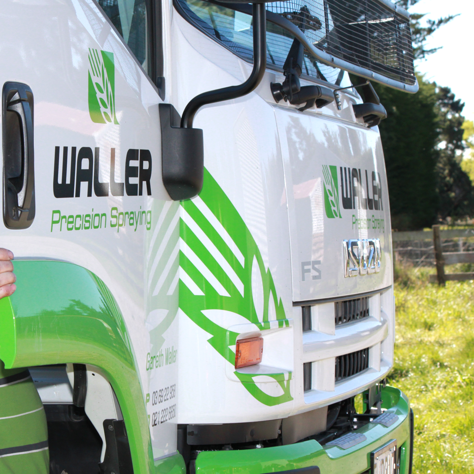 JFM Marketing + Design | Waller Precision Spraying truck Signage