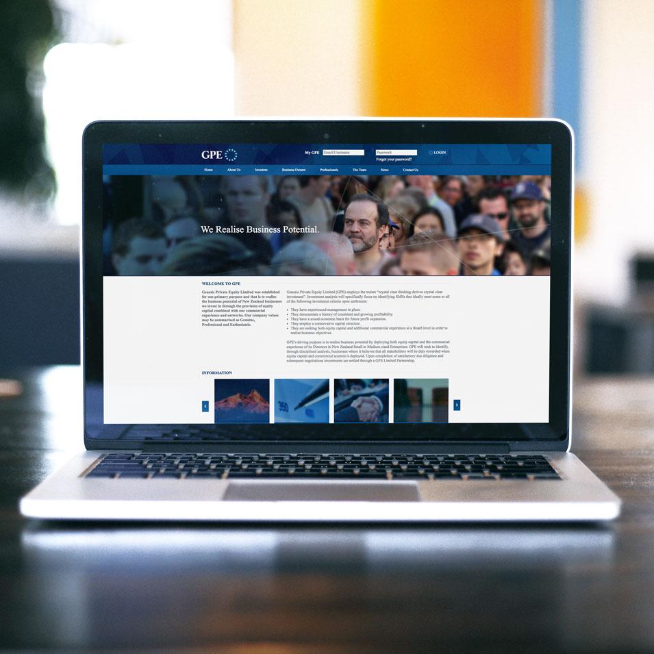 JFM Marketing + Design | Websites - GPE Genesis Private Equity