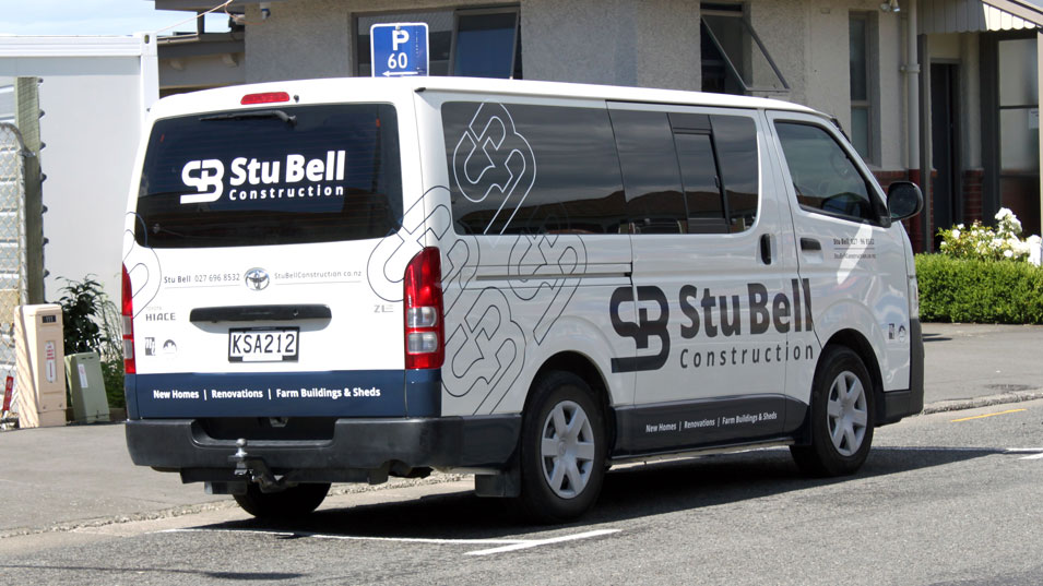 JFM Marketing + Design - Stu Bell Construction | Van Signage